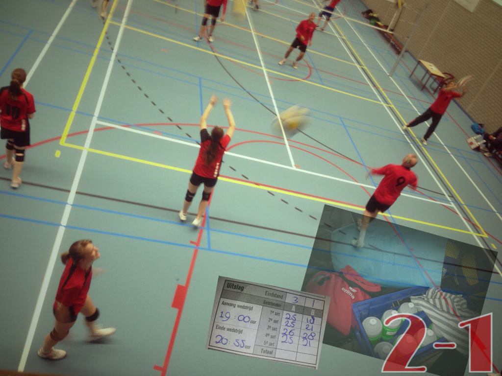 Dames 1 eerste volleybalweek